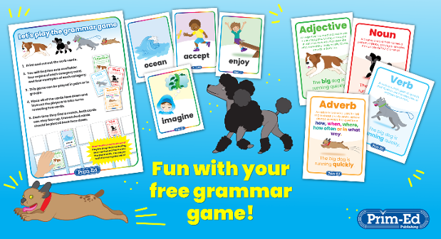 Enjoy a free grammar game