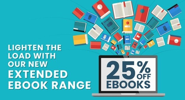 Lighten the load with our NEW extended eBook range